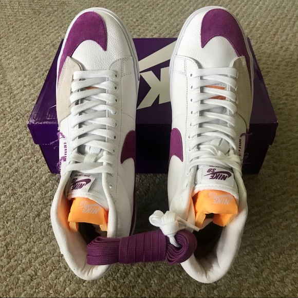 Nike SB Zoom Blazer Mid Edge Lakers White Viotech